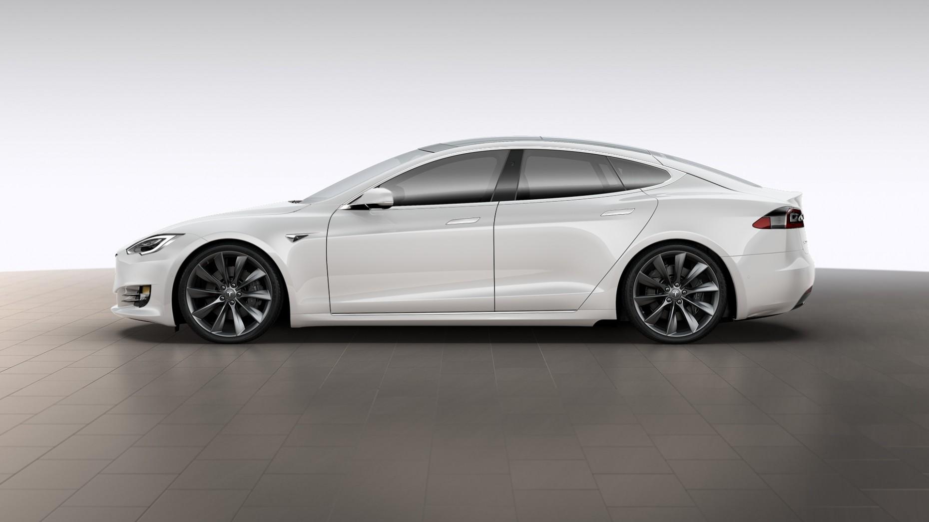 2016 Tesla MODEL S 90D pearl white multilayer metal color base color vin 5YJSA7E27GF163653 for ...