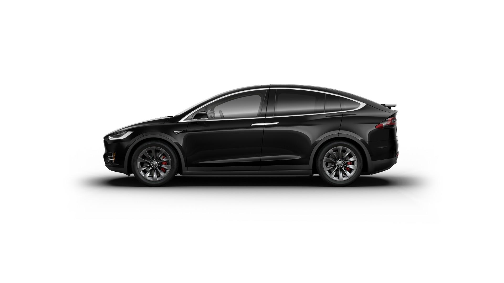 2017 Tesla Model X P100d Obsidian Black Metallic Paint Vin