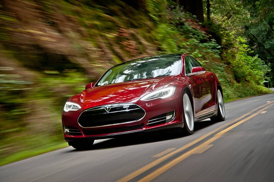 Tesla Model S image in motion from the Tesla Motors website