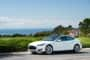 Model S in White, Ocean View