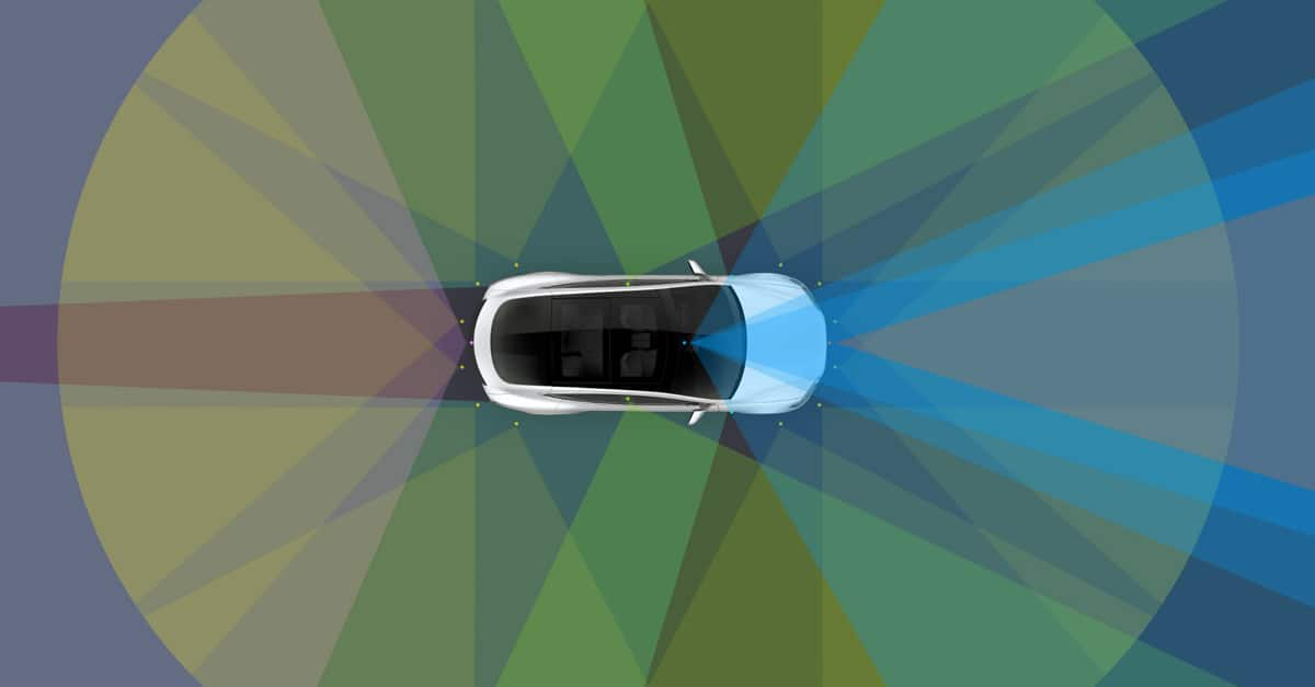 driver less cars sensors in tesla