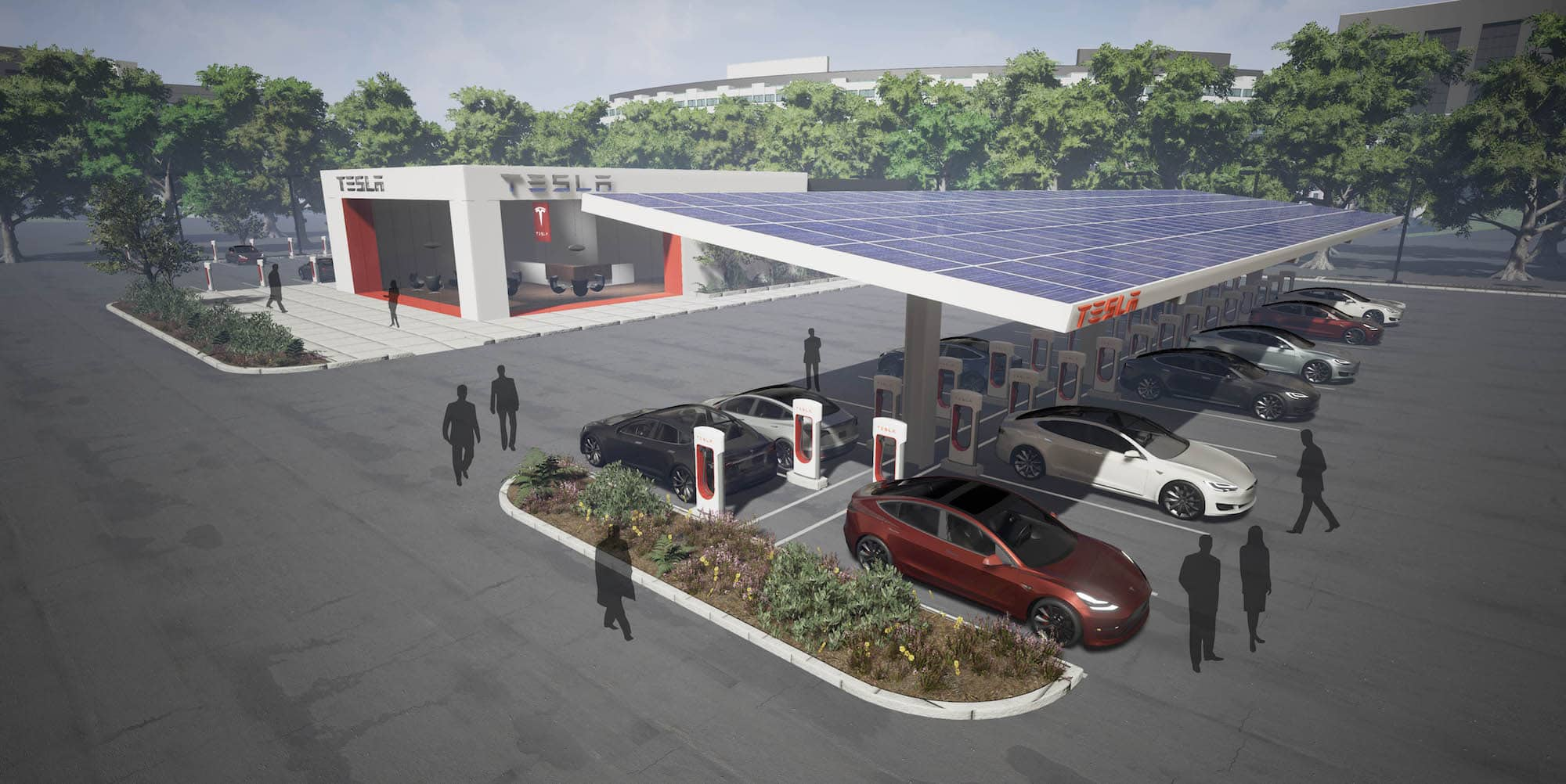 Concept Tesla Supercharging station from 2017-04-24 Blog Post