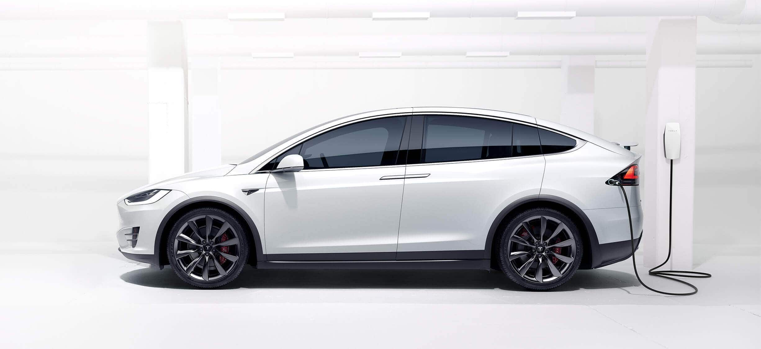 Model X with Wall Connector