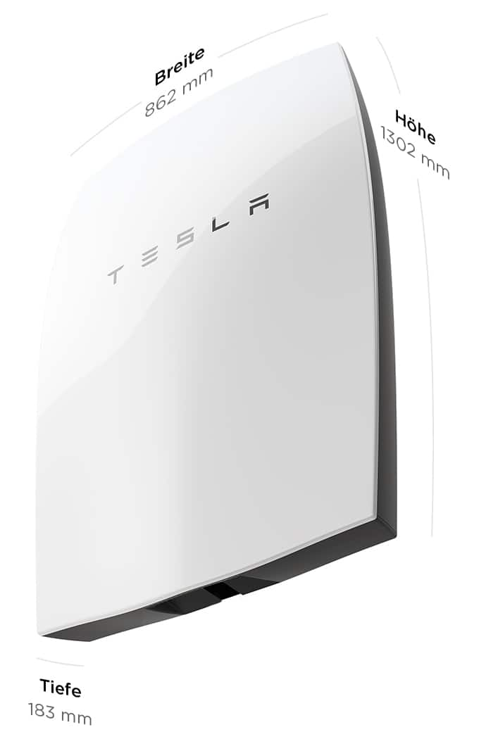 Tesla-Powerwall-Maße