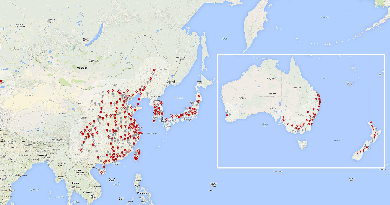 Supercharger Tesla - Map usa highway 80