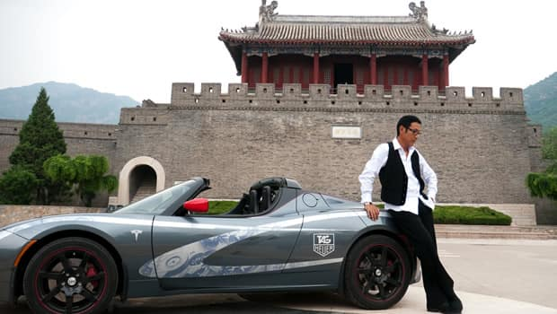 Tesla Roadster Arrives In Paris At Conclusion Of Historic World Tour