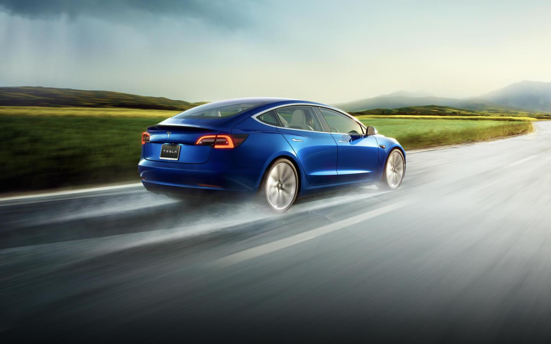 Blue AWD Model 3