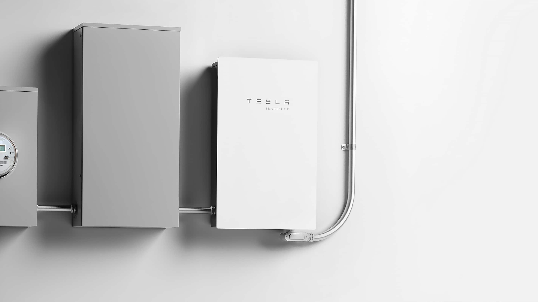 Closeup image of Tesla Solar Inverter