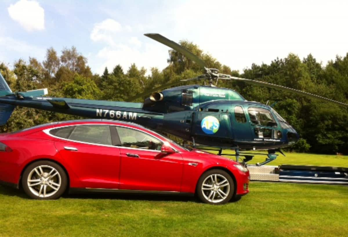 Model S & Helicopter