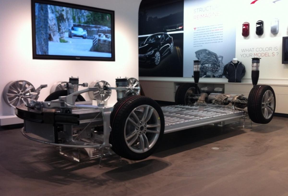 Tesla Puts Model S Technology On Display