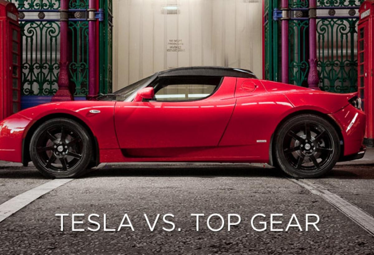 Tesla roadster top gear