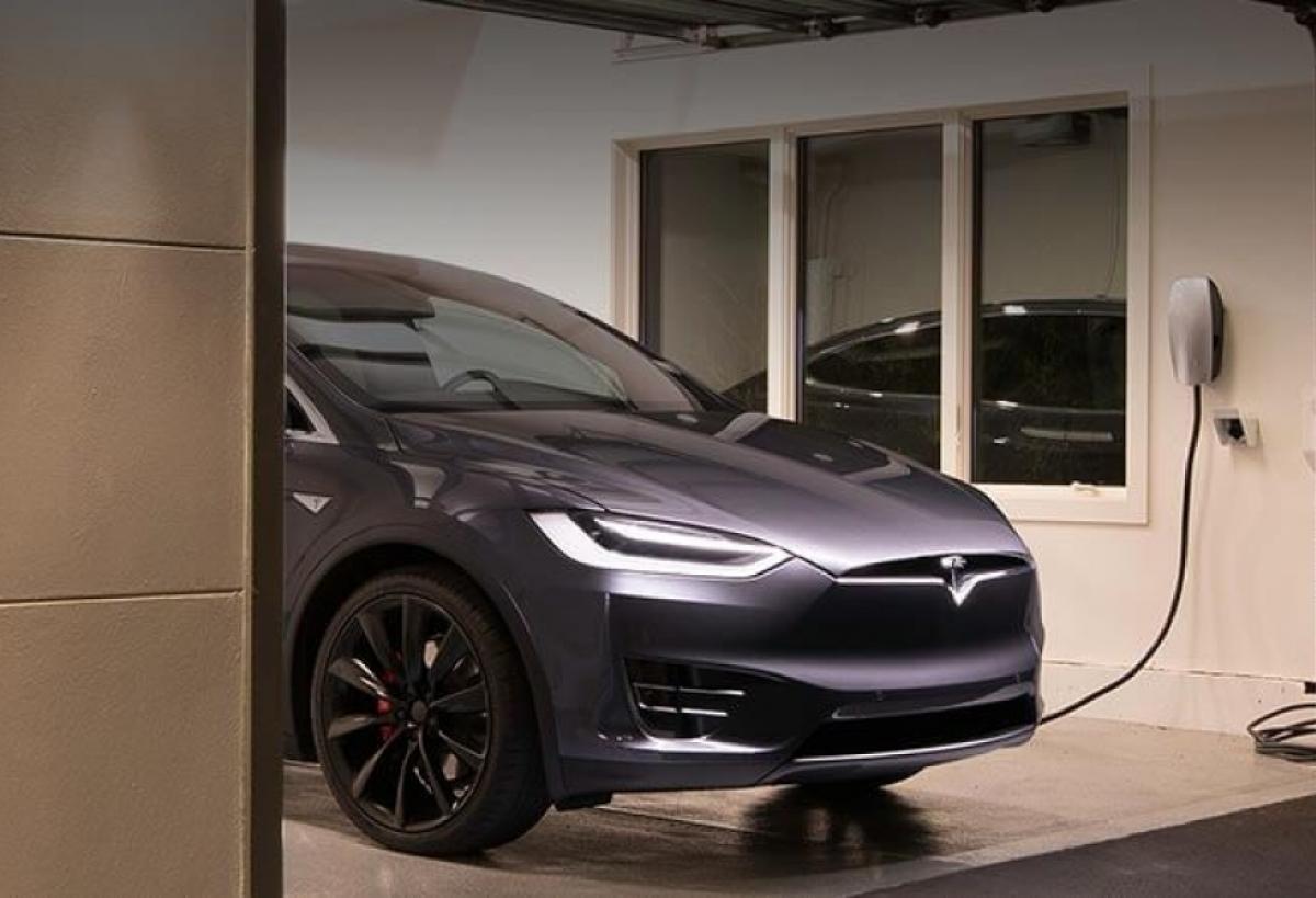 Tesla car charger installation
