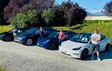 Swiss Tesla Family