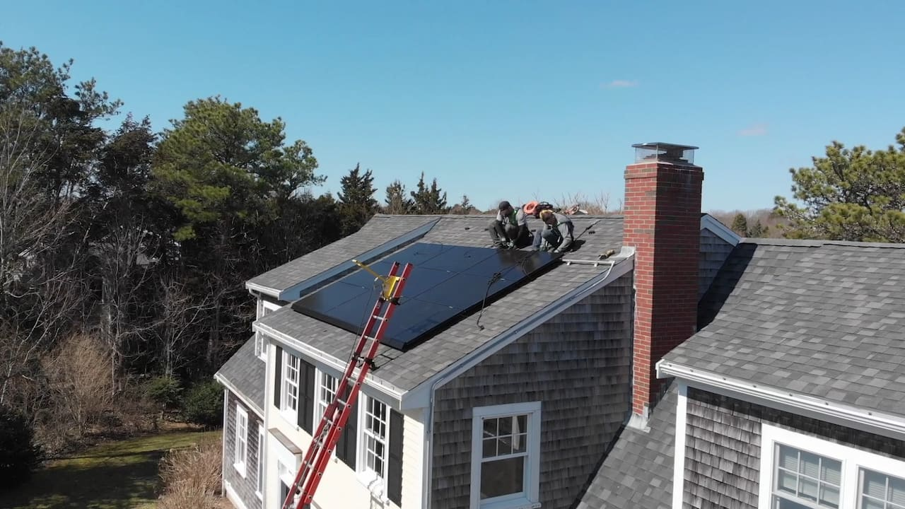 Tesla solar panel installation