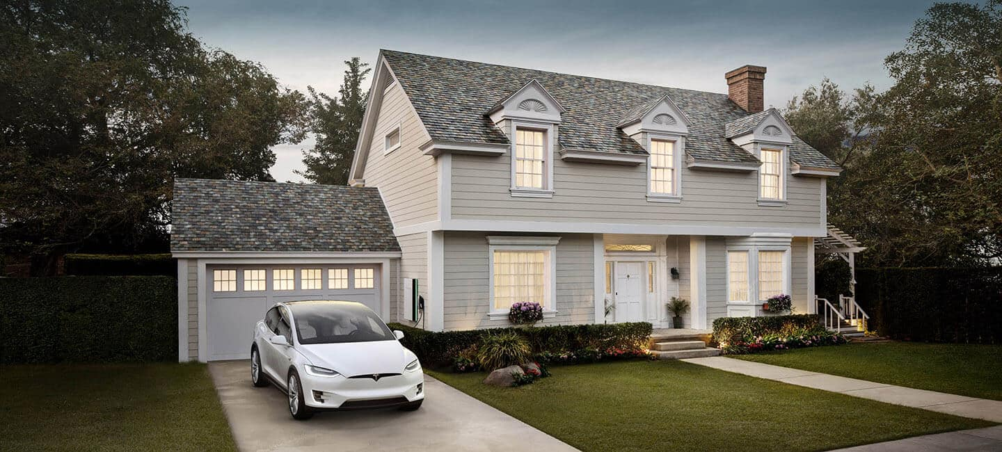Tesla solar roof tesla for Big houses for low prices