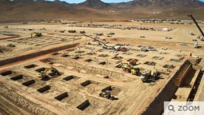 Construcción de la gigafábrica, el 4 de noviembre de 2014