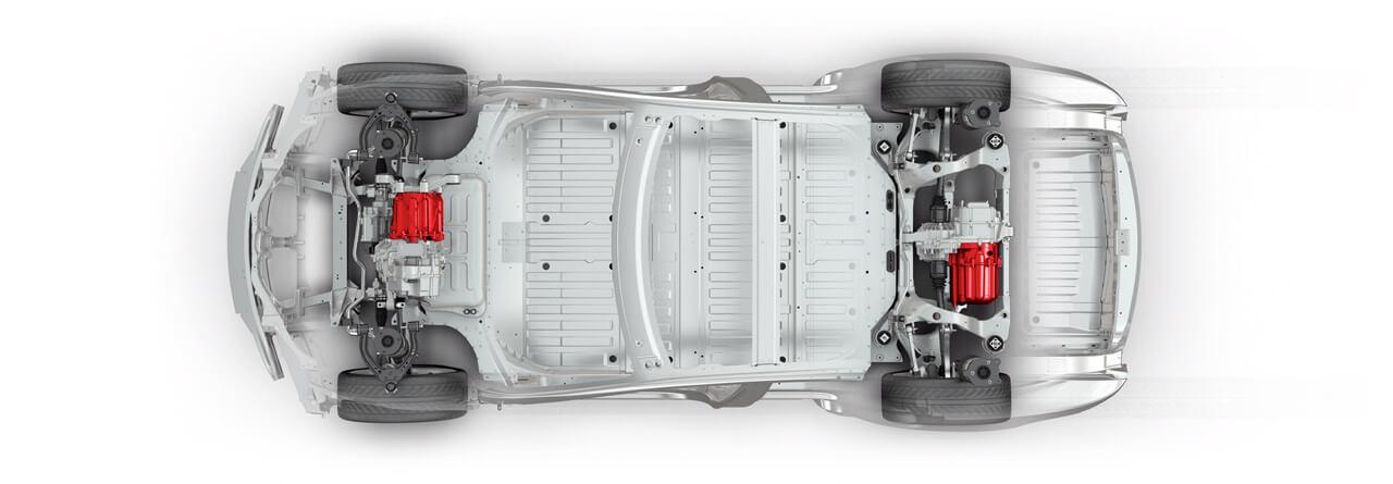 Model S mit Allradantrieb
