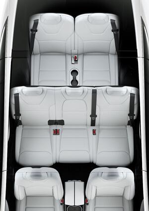 Tesla model x seating capacity