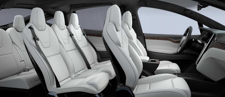 Model X White Interior